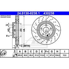 Bremsscheibe (2 Stück) - ATE 24.0130-0238.1