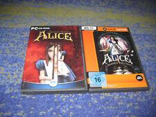 American McGee's: Alice und ALICE MADNESS RETURNS DEUTSCH in DVD Hülle