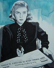 New listing Original art - Lizabeth Scott Ii - 2019 film noir illustration - femme fatale
