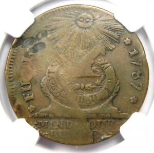 1787 Fugio Cent 1C Colonial Copper Coin - Certified NGC XF Details (EF) - Rare!