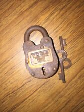 Padlock Key Brass Lock Wild West 1900s Johnny Cash Yuma Prison g/vg patina
