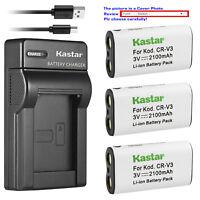 Kastar Battery Slim Charger for Nikon CR-V3 CoolPix 600 CoolPix 700 CoolPix 800
