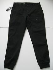 POLO RALPH LAUREN Men's Black Straight-Fit Stretch Cargo Jogger Pants 36x34