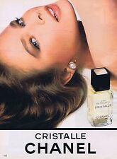 Publicité Advertising 016 1985 Chanel eau de toilette Christalle