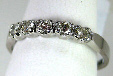 Diamond engagment Band Heirloom 18K White gold Natural FREE app .35ct $1149.78