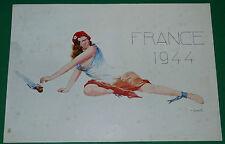 PLANCHE OSCAR LIEDEL 25.5 X 17.5 FRANCE 1944 CARICATURE CARICATURISTE
