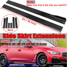 78.7'' Side Skirts Extensions Body Kit Rocker Panels For Infiniti Q50S Q60 G25