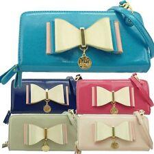 Ladies LYDC Designer Bow Purse Clutch Bag Large Patent Wallet Handbag GPL310