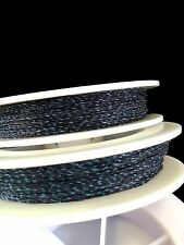 (1) Black w/ Blue Genuine Irish Linen Single Pool Billiard Cue Wrap Spool