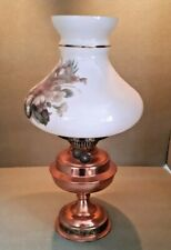Vintage Copper Oil Paraffin Lamp Height 40cms Tall