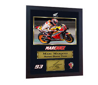 ** New MARC MARQUEZ Champion MOTO GP photo print autographed signed Framed