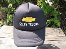 Chevy Trucks Logo Hat Cap Mesh Snapback Adjustable Black