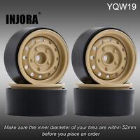 "4PCS 1.9"" Beadlock Wheel Rim Hub for 1/10 RC Axial SCX10 90046 Traxxas TRX4 D90"