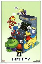 MARVEL COMICS -INFINITY LITHOGRAPH - SKOTTIE YOUNG BABY - BRAND NEW- THANOS HULK