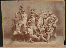 "RARE! 1893 Old Hundred Football Team Studio Photo on Mount, 13.75"" x 11"""