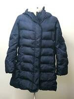 GIRLS UNIQLO NAVY BLUE HOODED QUILTED PADDED COAT JACKET KIDS AGE 5-6 YEARS