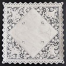 "75 - 8"" SQUARE WHITE Paper Lace Doilies | White Paper Lace Doily"