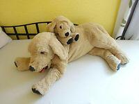 IKEA 2 x Gosig Golden Retriever Hund 70 cm & 40 cm Mama + Kind
