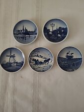 "Royal Copenhagen Denmark Set of Five 3.25"" Miniature Porcelain Plates 2010"