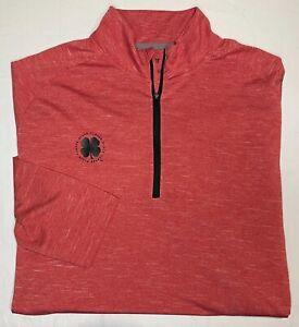 Black Clover Live Lucky Red 1/4 Zip Pullover Golf Lightweight L/S Shirt 2XL XXL