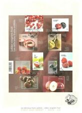 BELGIUM 2015 FRUIT PEACH STRAWBERRY CRANBERRY LUXURY FIRST DAY SHEET FDC