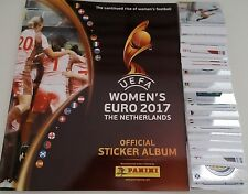 PANINI UEFA WOMEN'S UEFA EURO 2017 Adesivo COLLECTION-COMPLETO 334 Set