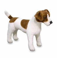 Jack Russell Terrier Plüsch Stofftier Plüschtier Kuscheltier Hund  XXL 48cm NEU