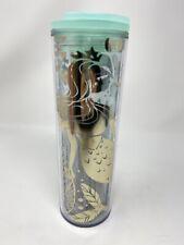 Starbucks valentines 16 Oz Tea Water Tumbler Siren Mermaid Cup New
