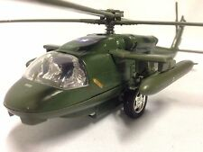 "Black Hwak Helicopter, U.S. ARMY Military, 11"" Diecast Pull Back Toys, Green"