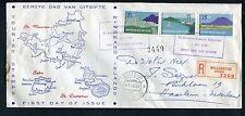 Nederlandse Antillen FDC E2 _  4 M, met adres ; aangetekend