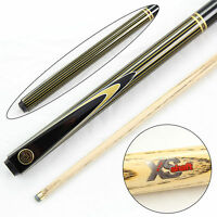 Stylish BCE Gold PIN-STRIPE Extra Smooth 2pc Ash Snooker Pool Cue - 9.5mm Tip