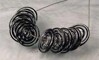 ROA Lampwork 10 Filigree Black Handmade USA Disc Art Glass Beads SRA