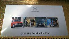 MERCEDES servizio di mobilità per VITO INFO LIBRETTO NUOVO ORIGINALE Z 6515641802