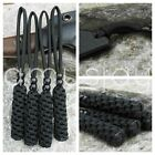 (4) Knife Lanyards-fits-Tactical, Military, Survival, Combat, EDC Knives - BLACK