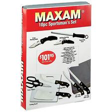 Maxam 10pc Sportsman Cutlery Knife Set - New in Box