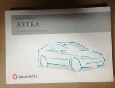 Original Owners Manual / Handbook Vauxhall Astra  1998 to 2004 shape