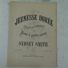 salon piano duet 4 hands SYDNEY SMITH jeunesse doree , galop de concert , 19pp