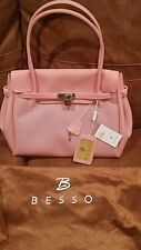 SWEET & UNIQUE! Authentic BESSO Baby Pink Purse w/Tags