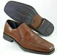 5931191 Mens Shoes Johnston Murphy Brown Leather Pannel Toe Slip On 8.5 M