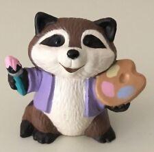 Vintage Hallmark Miniature Painter Artist Raccoon Figurine Cake Topper 1989