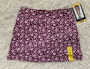Tranquility Women's Active Skort By Colorado Clothing Purple Ditzy Garden Skirts