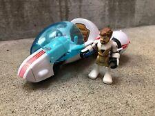 2011 Hasbro Star Wars Jedi Force Playskool Heroes General Obi Wan & SPEEDER BIKE