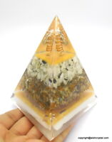 Florescent Big EMF Protection Reiki Healing Meditation Orgone Pyramid Organite