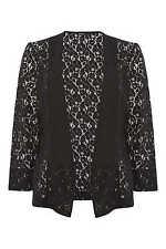 Roman Originals Ladies Statement Lace Jacket Black Size 10 - 20