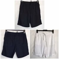 Next Linen Blend Navy,Black Or White Pocket Elasticated Shorts  6 - 20 (n-52h)