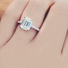 GIA Certified Emerald Cut Diamond Engagement Ring Platinum 1.70 CTW