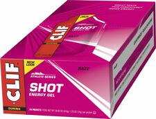 Clifbar Clif Shot Energy Gel Food Clf Gel Raspberry Bxof24