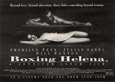"""19/6/93PGN26 BOXING HELENA MOVIE ADVERT 7X11"""" SHERILYN FINN & JULIAN SANDS"""