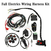 Full Electrics Wiring Harness Loom CDI Coil For GY6 150CC ATV Quad Go Kart Hha