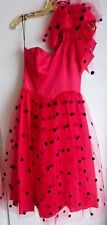 Vintage Gunne Sax size 9 1980's Sleeveless Rockabilly Tulle Skirt Swing Dress